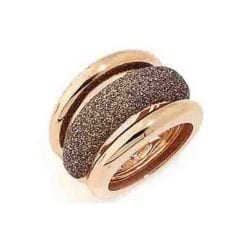 Polvere Di Sogni Ring in Rosa Antelope. Sterling Silver with an 18K Rose Gold Vermeil. Self sizing ring, prongs inside.