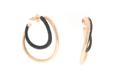 2-Tone Wave Polvere Earrings. Sterling Silver with an 18K Rose Gold Vermeil.