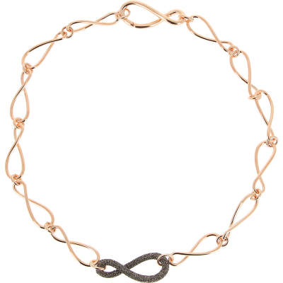 Polvere Di Sogni Infinity Polvere Choker Necklace. Sterling Silver with an 18K Rose Gold Vermeil.