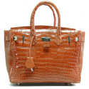 Alternate image 1 for Anna 30 - Orange Saltwater Crocodile By Lanae Exotic Handbags