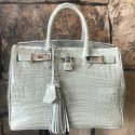 Alternate image 1 for Anna 30 - Benton Cream Saltwater Crocodile By Lanae Exotic Handbags
