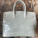 Alternate image 2 for Anna 30 - Benton Cream Saltwater Crocodile By Lanae Exotic Handbags