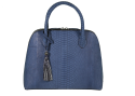 Alternate image 1 for Large Dome - Denim Blue Python By Lanae Exotic Handbags