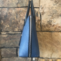 Alternate image 4 for Large Dome - Denim Blue Python By Lanae Exotic Handbags