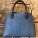 Alternate image 5 for Large Dome - Denim Blue Python By Lanae Exotic Handbags