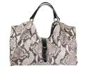Alternate image 1 for Natural Python Shoulder Bag With Brown Alligator Trim By Lanae
