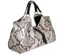 Alternate image 2 for Natural Python Shoulder Bag With Brown Alligator Trim By Lanae