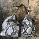 Alternate image 4 for Natural Python Shoulder Bag With Brown Alligator Trim By Lanae