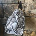 Alternate image 5 for Natural Python Shoulder Bag With Brown Alligator Trim By Lanae