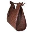 Alternate image 2 for Brown Nile Crocodile Hornback Bag By Lanae