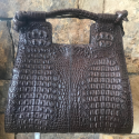 Alternate image 4 for Brown Nile Crocodile Hornback Bag By Lanae