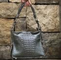 Alternate image 1 for Amanda Grey Nile Crocodile  By Lanae Exotic Handbags
