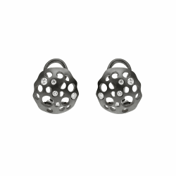 Closeup image for View Closed Lily Earrings By Dana Bronfman