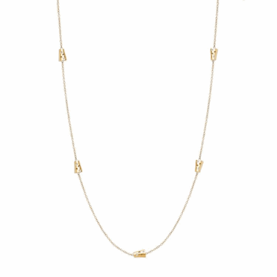 Tiny tapered and reversible 'helena' charms encrusted with white diamonds adorn an 18 karat yellow gold chain. This quietly bold chain is ideal for laying or wrapping around the neck to create a two layer necklace, or the wrist to wear as a bracelet!   Available in 18 karat yellow, rose or white gold or in a combination of the different 18k gold colors. Features ten burnish-set diamonds, approx. .35 carat. 16'' 18 karat yellow gold chain. Matte finish. 0.8cm diameter, > 1g Made in New York City from the world's finest materials with ethically sourced diamonds. Please allow 3-4 weeks for delivery as each piece is created specially for you.