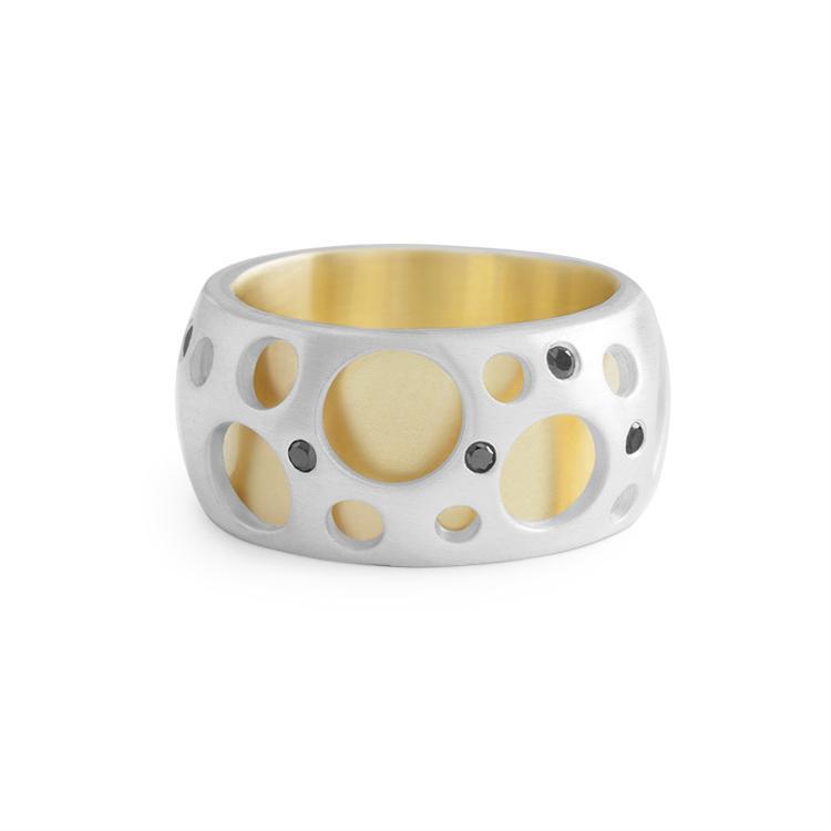 Diamond Hollow Ring - alternate