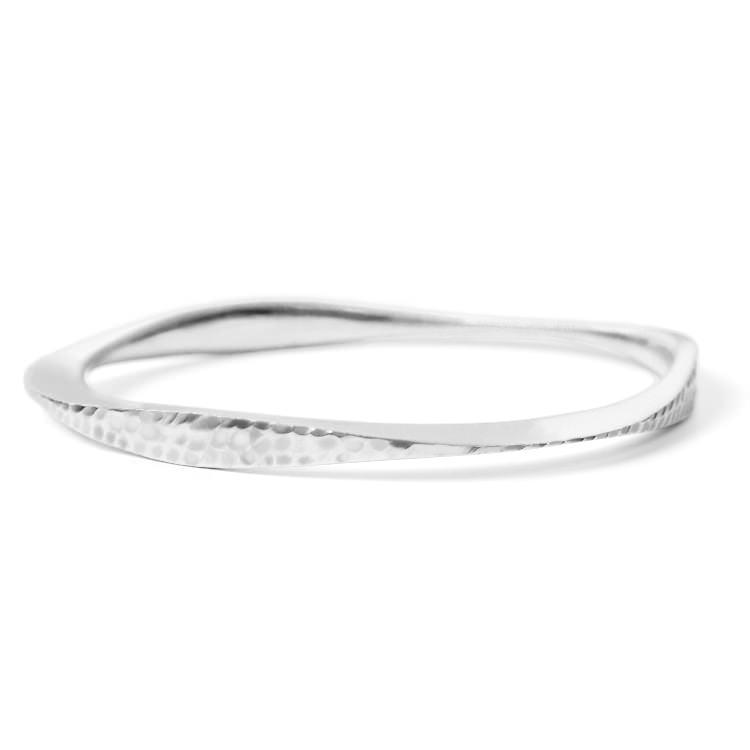 Silver Tri Bangle - alternate