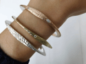 Alternate image 2 for Silver Tri Bangle By Dana Bronfman