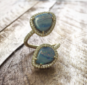 Alternate image 3 for Boulder Opal Twisted Diamond Ring By Lauren K