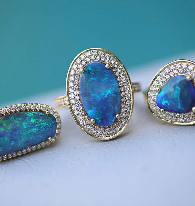 Oval Boulder Opal Sophie Ring (As Pictured In Center) - alternate
