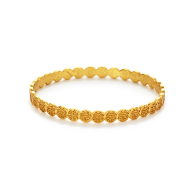 The Valencia Stackable Bangle is a slender, stackable wrist piece that features 24k gold coin embellishments inspired by 17th century coin. Learn more:
