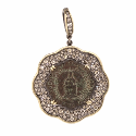 Alternate image 1 for Lady Of Montserrat Scalloped Pave Diamond Pendant By Cynthia Ann Jewels