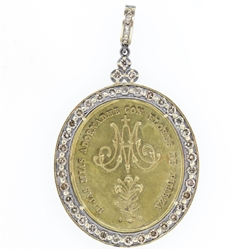 Ave Maria in Channel Diamond Bezel - alternate