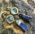 Alternate image 2 for  Gemma Aquamarine & Boulder Opal Earrings By Lauren K
