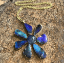 Alternate image 3 for Gemma Flower Boulder Opal & Tanzanite Necklace By Lauren K