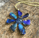 Alternate image 4 for Gemma Flower Boulder Opal & Tanzanite Necklace By Lauren K