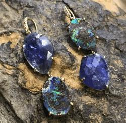 Closeup image for View Gemma Flower Boulder Opal & Tanzanite Necklace By Lauren K