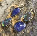 Alternate image 2 for Joyce Tanzanite & Boulder Opal Hi-Lo Earrings By Lauren K