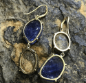 Alternate image 3 for Joyce Tanzanite & Boulder Opal Hi-Lo Earrings By Lauren K