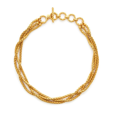 18.5-20.5 inches 24K gold plate