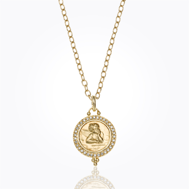 18K Pave Angel Pendant with diamond - alternate