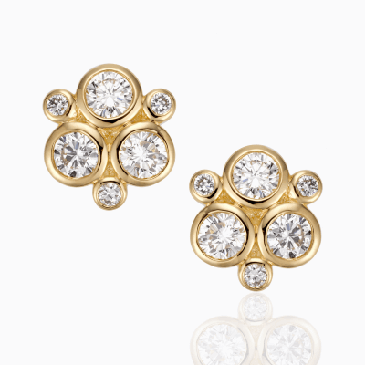 18K Classic Trio Earring in diamond - Temple St. Clair