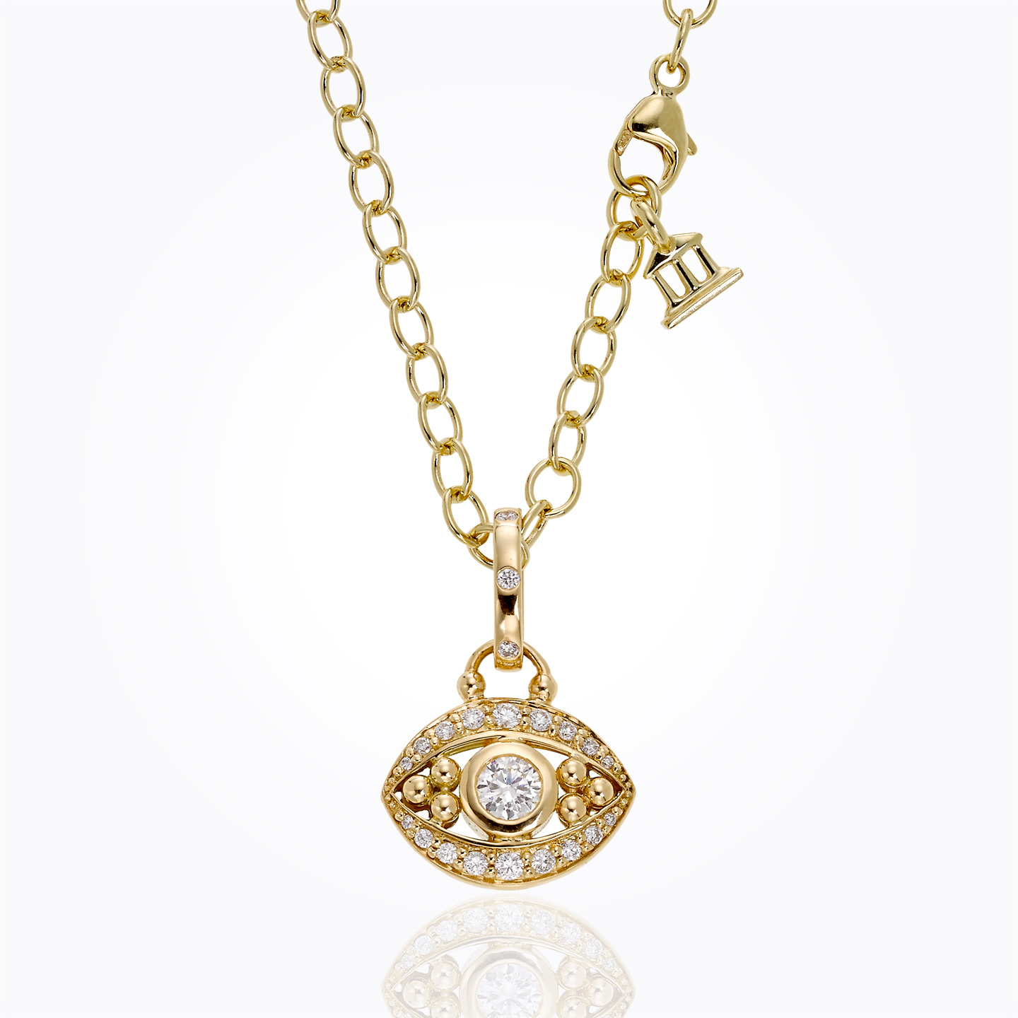 18K Evil Eye Pendant in diamond - P31848-PVEYE - alternate