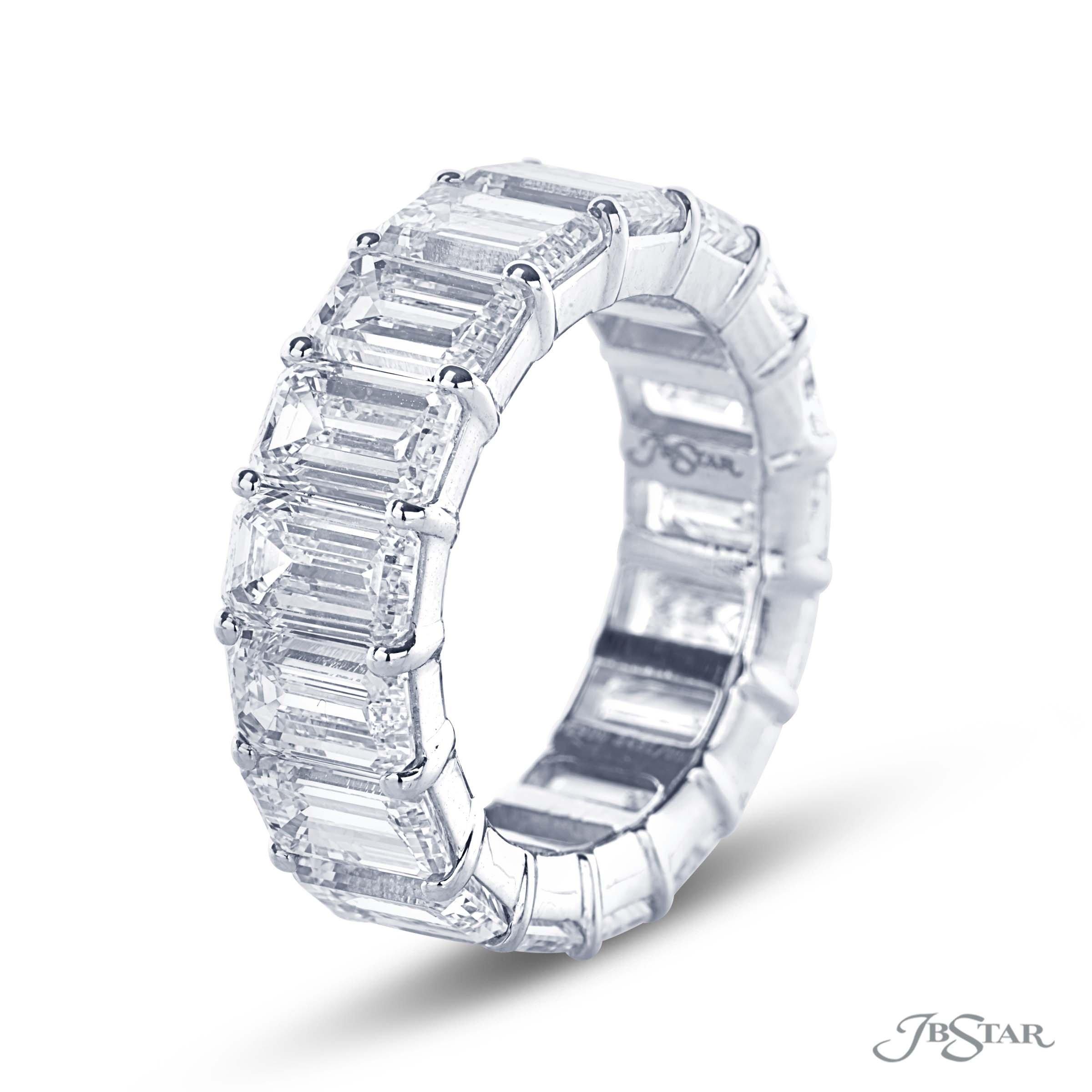 JB Star Emerald Eternity Ring 11.66 cts Diamonds - alternate
