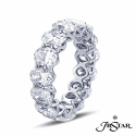 Alternate image 1 for Jb Star Oval Diamond Eternity Ring In Platinum 5.35 Cts.