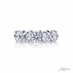 Closeup image for View Jb Star Oval Diamond Eternity Ring In Platinum 5.35 Cts.