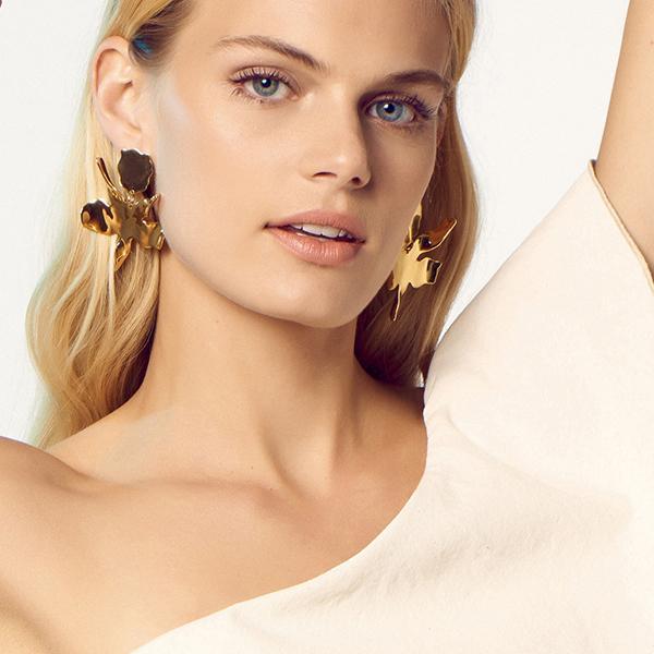 GOLDEN LILY EARRING - 14k gold plated - alternate