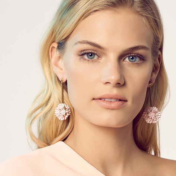 PLUMERIA DROP EARRINGS - pink - alternate