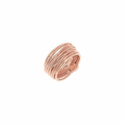 Thin DNA Spring Ring - Rose Gold
