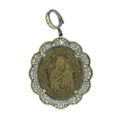 Closeup image for View Blessed Virgin Mary Pendant By Cynthia Ann Jewels