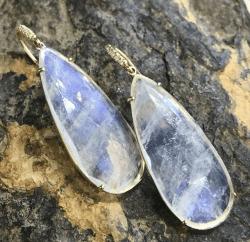 Closeup image for View  Gemma Aquamarine & Boulder Opal Earrings By Lauren K