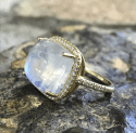 Alternate image 1 for Moonstone Cabochon Ring  By Lauren K