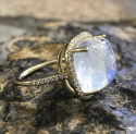 Alternate image 2 for Moonstone Cabochon Ring  By Lauren K