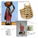 Alternate image 2 for Corset Ring By Shompole