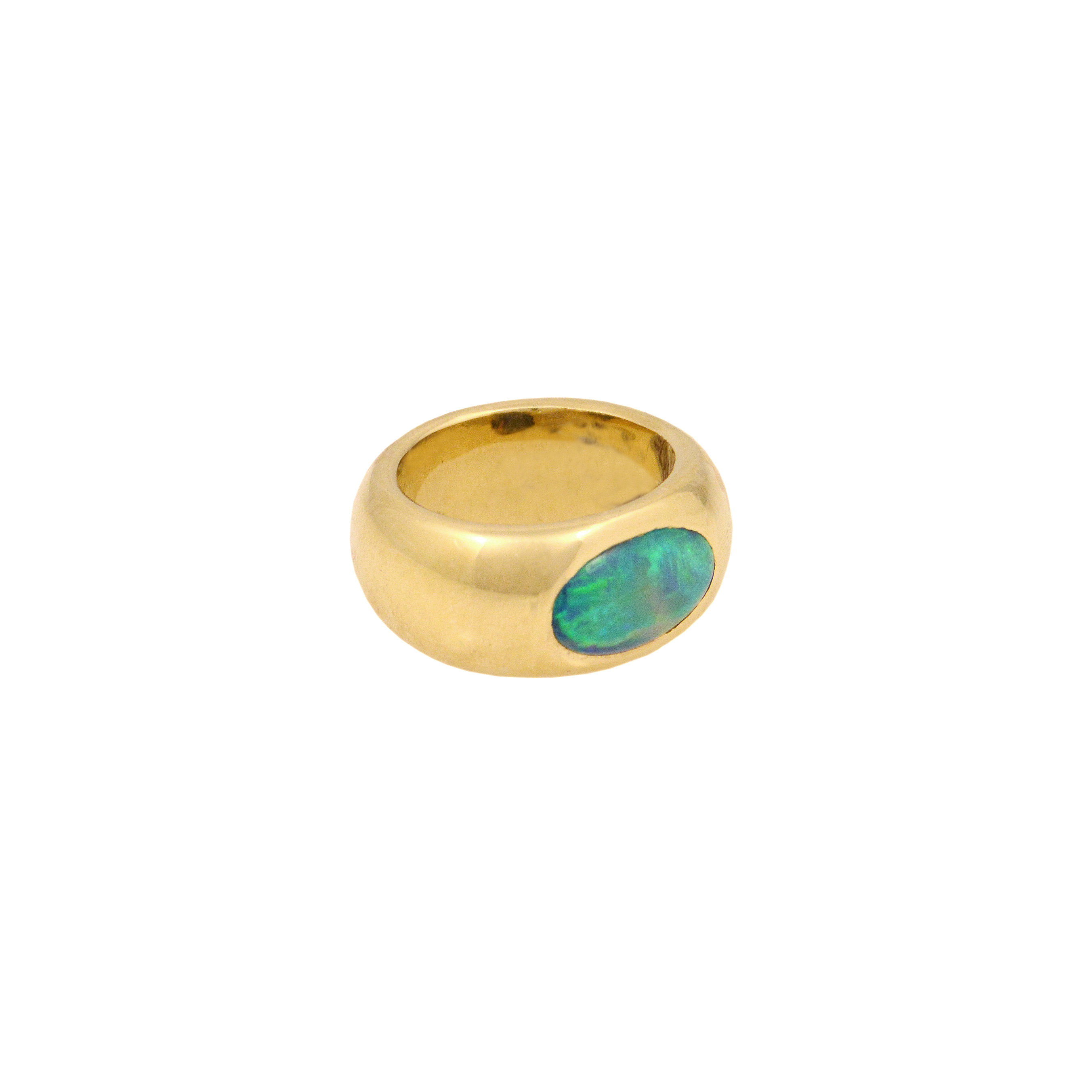 Oceanic Opal Gypsy Ring - alternate