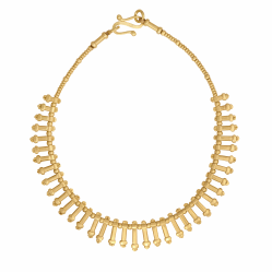 Closeup image for View Eka Tiny Yellow Gold Necklace 30'' By Fope