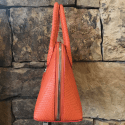 Alternate image 2 for Small Dome Orange Python By Lanae Exotic Handbags